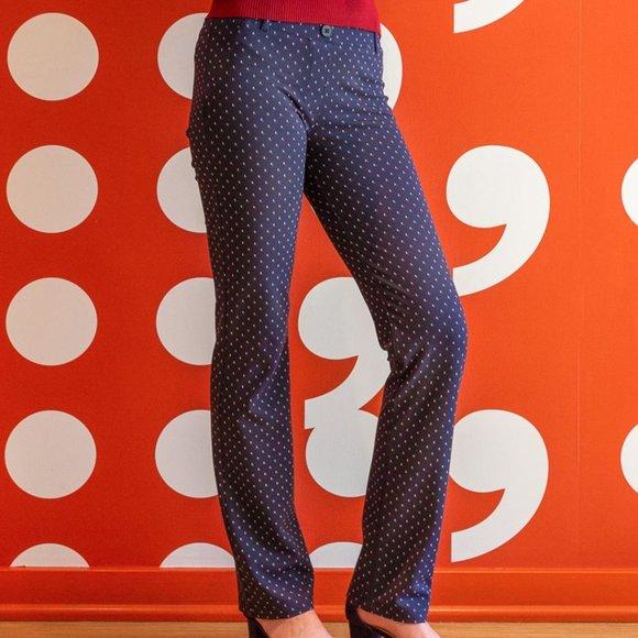 NWOT Betabrand Binary Blue straight leg pant SP